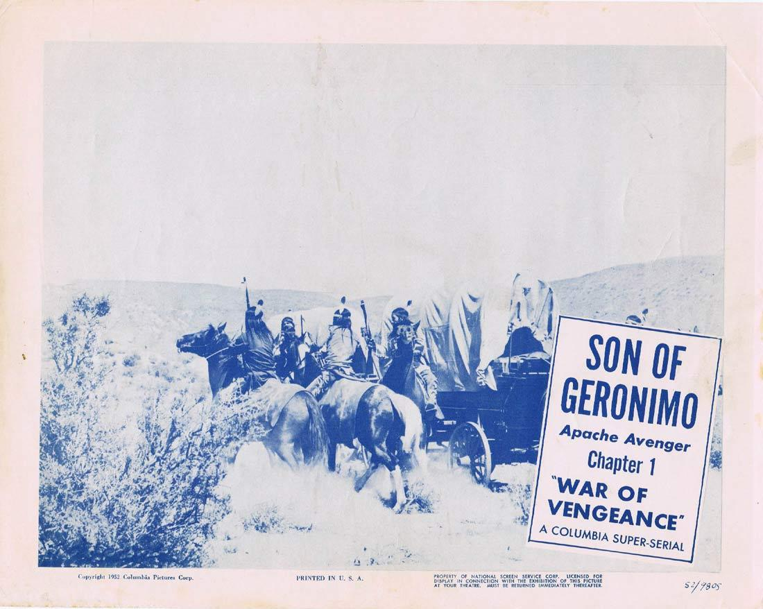 SON OF GERONIMO Original Lobby Card Columbia Serial 1952