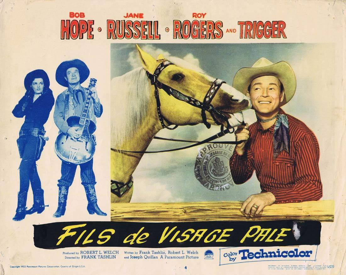 SON OF PALEFACE Vintage Lobby Card Bob Hope Jane Russell Roy Rogers