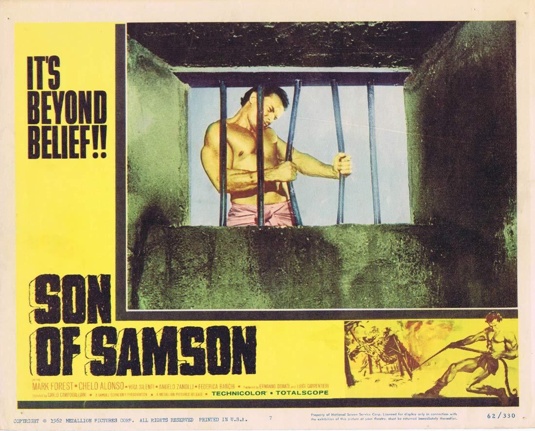SON OF SAMSON Vintage Lobby Card 7 Mark Forest Chelo Alonso