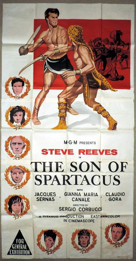 SON OF SPARTACUS aka THE SLAVE Original 3 Sheet Movie Poster Steve Reeves