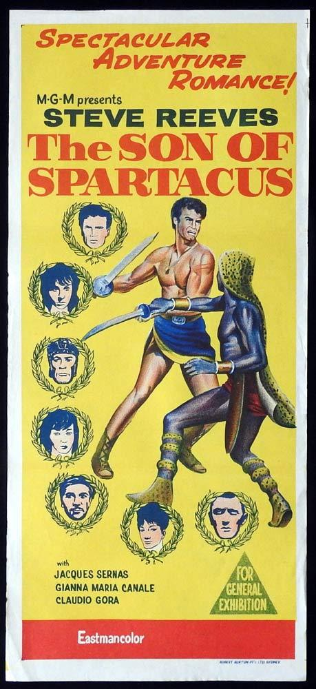 SON OF SPARTACUS Original Daybill Movie Poster Steve Reeves Jacques Sernas