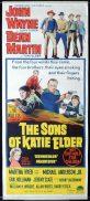 THE SONS OF KATIE ELDER Original Daybill Movie Poster JOHN WAYNE Dean Martin