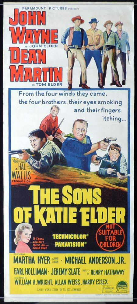 THE SONS OF KATIE ELDER Original Daybill Movie Poster JOHN WAYNE Dean Martin
