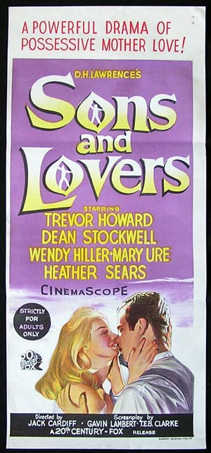 SONS AND LOVERS '60 Trevor Howard Wendy Hiller RARE Daybill Movie poster