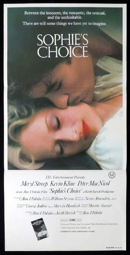 SOPHIE'S CHOICE Original Daybill Movie Poster Meryl Streep