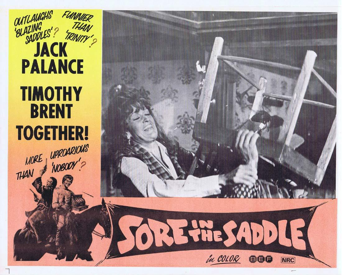 SORE IN THE SADDLE Lobby Card 2 Jack Palance Timothy Brent Tedeum