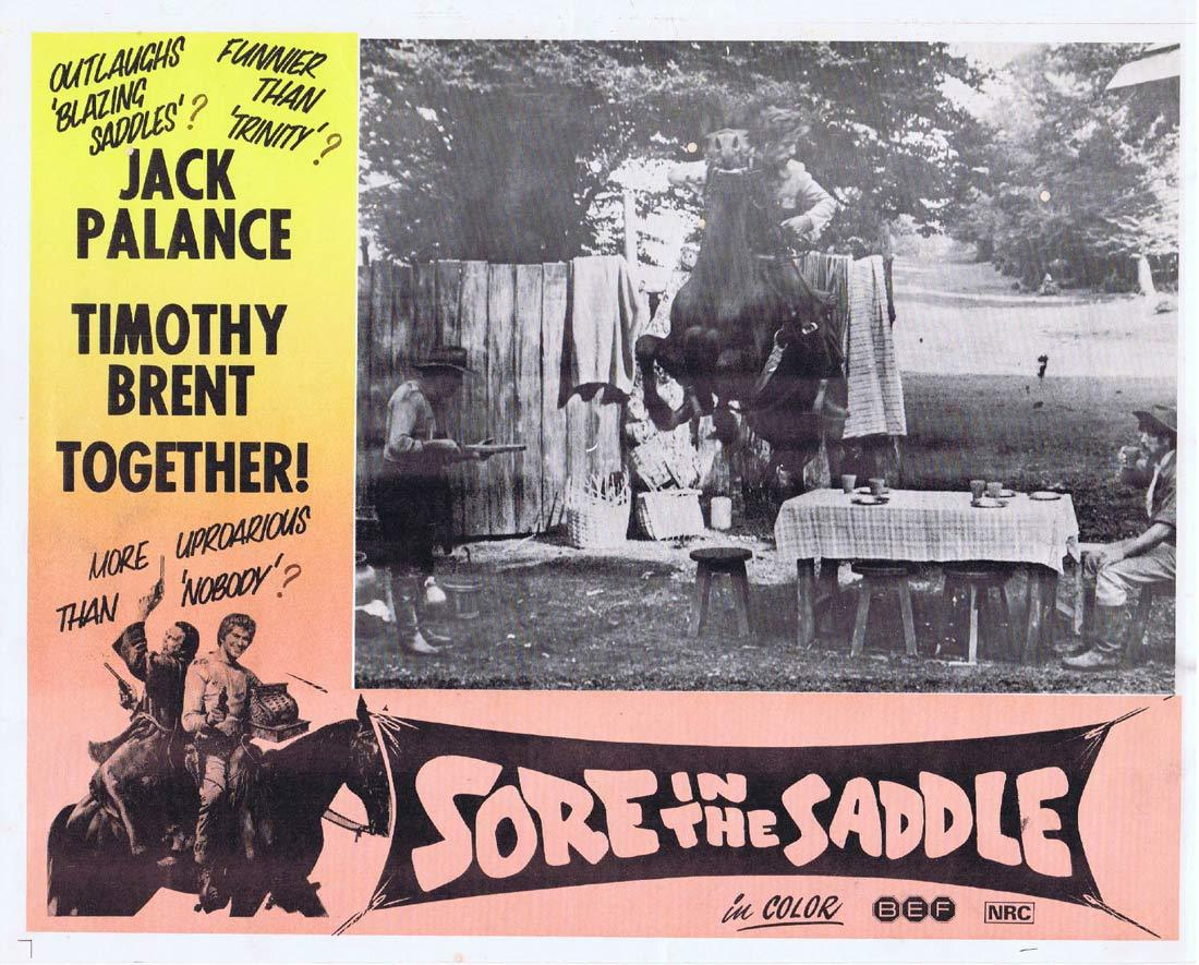 SORE IN THE SADDLE Lobby Card 4 Jack Palance Timothy Brent Tedeum