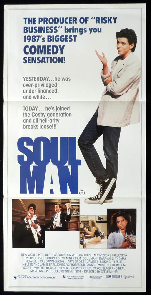 SOUL MAN Rare Daybill Movie Poster C. Thomas Howell Rae Dawn Chong Arye Gross