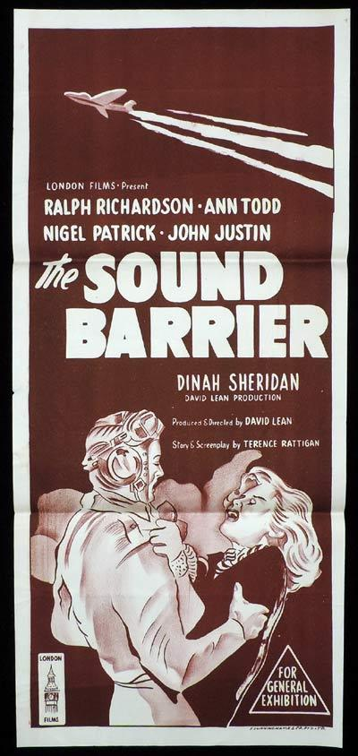 THE SOUND BARRIER Daybill Movie Poster Ralph Richardson Ann Todd