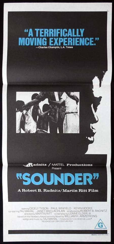 SOUNDER Original Daybill Movie Poster Cicely Tyson Paul Winfield Kevin Hooks