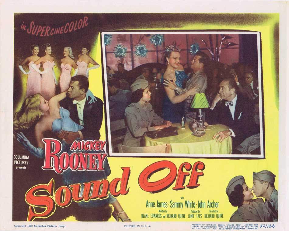 SOUND OFF Lobby Card 5 Mickey Rooney Anne James John Archer