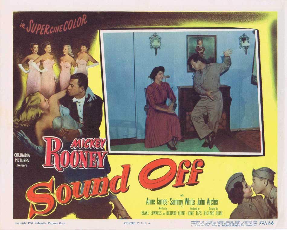 SOUND OFF Lobby Card 7 Mickey Rooney Anne James John Archer