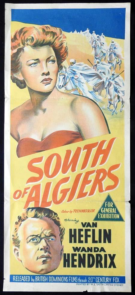 SOUTH OF ALGIERS Original Daybill Movie Poster Van Heflin Wanda Hendrix Eric Portman