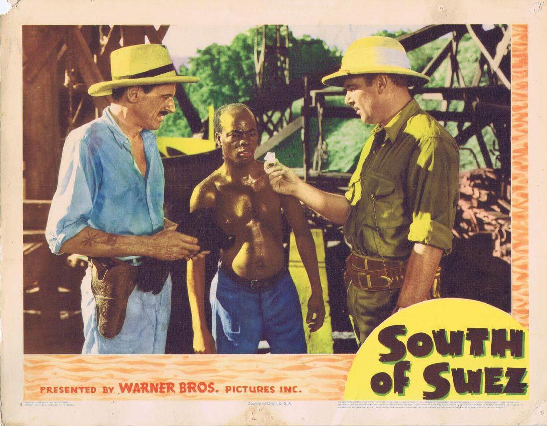 SOUTH OF SUEZ Lobby card 2 George Brent Brenda Marshall George Tobias