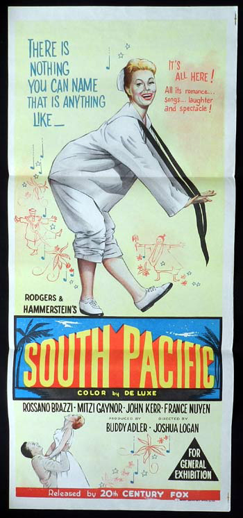 SOUTH PACIFIC Daybill Movie poster Mitzi Gaynor