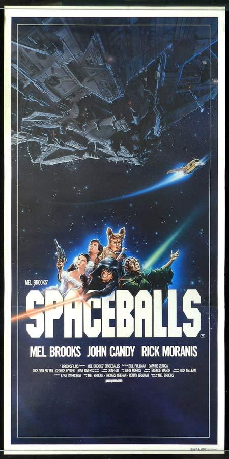 SPACEBALLS Original Daybill Movie Poster Mel Brooks Bill Pullman John Candy