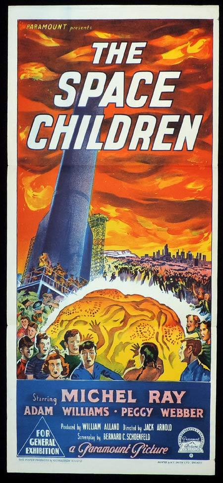THE SPACE CHILDREN Original daybill Movie poster Richardson Studio Sci FI