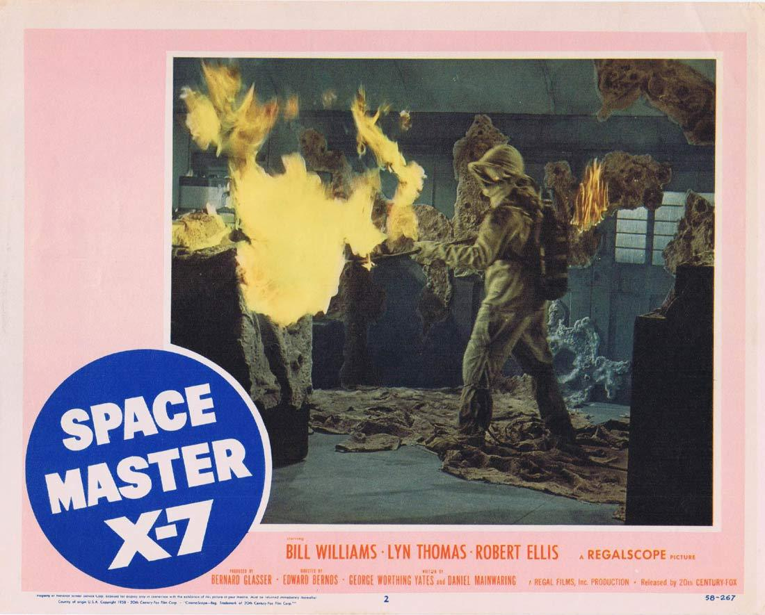 SPACE MASTER X-7 Lobby card 2 Bill Williams Sci Fi