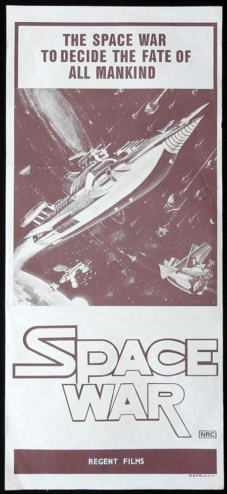 SPACE WAR aka WAR IN SPACE Original Daybill Movie Poster Japanese Sci Fi