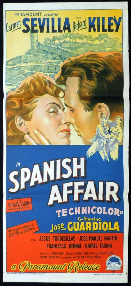 SPANISH AFFAIR Daybill Movie Poster Richard Kiley Richardson Studio