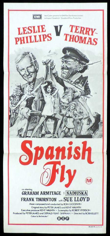 SPANISH FLY Original Daybill Movie Poster Leslie Phillips British Comedy