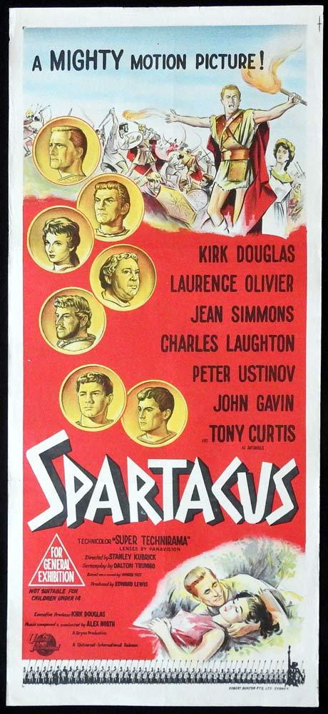 SPARTACUS Kirk Douglas RARE Original Daybill Movie poster