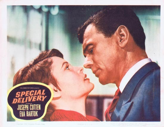 SPECIAL DELIVERY Lobby Card 2 1955 Joesph Cotton Eva Bartok