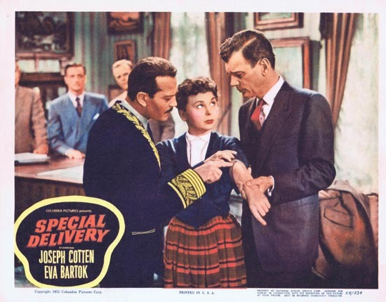 SPECIAL DELIVERY Lobby Card 4 1955 Joesph Cotton Eva Bartok