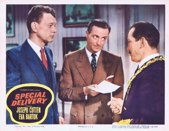 SPECIAL DELIVERY Lobby Card 8 1955 Joesph Cotton Eva Bartok