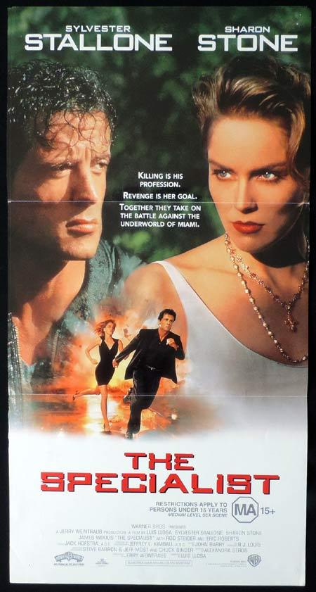 THE SPECIALIST Daybill Movie Poster Sylvester Stallone Sharon Stone