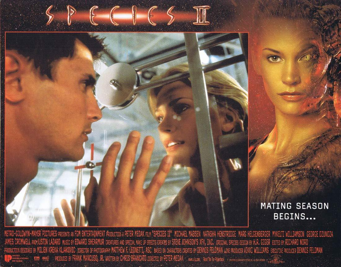 SPECIES II Lobby Card 3 Michael Madsen Natasha Henstridge