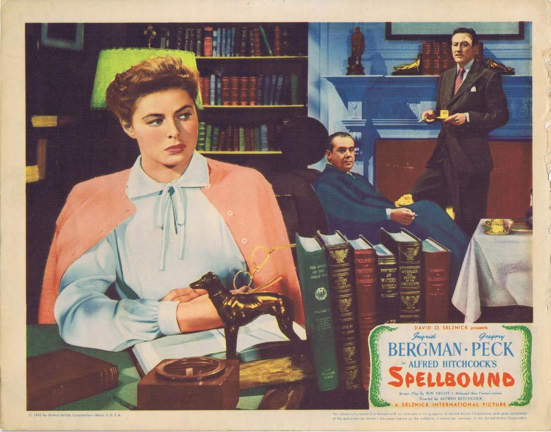 SPELLBOUND Lobby card 1 1945 Alfred Hitchcock Bergman Peck