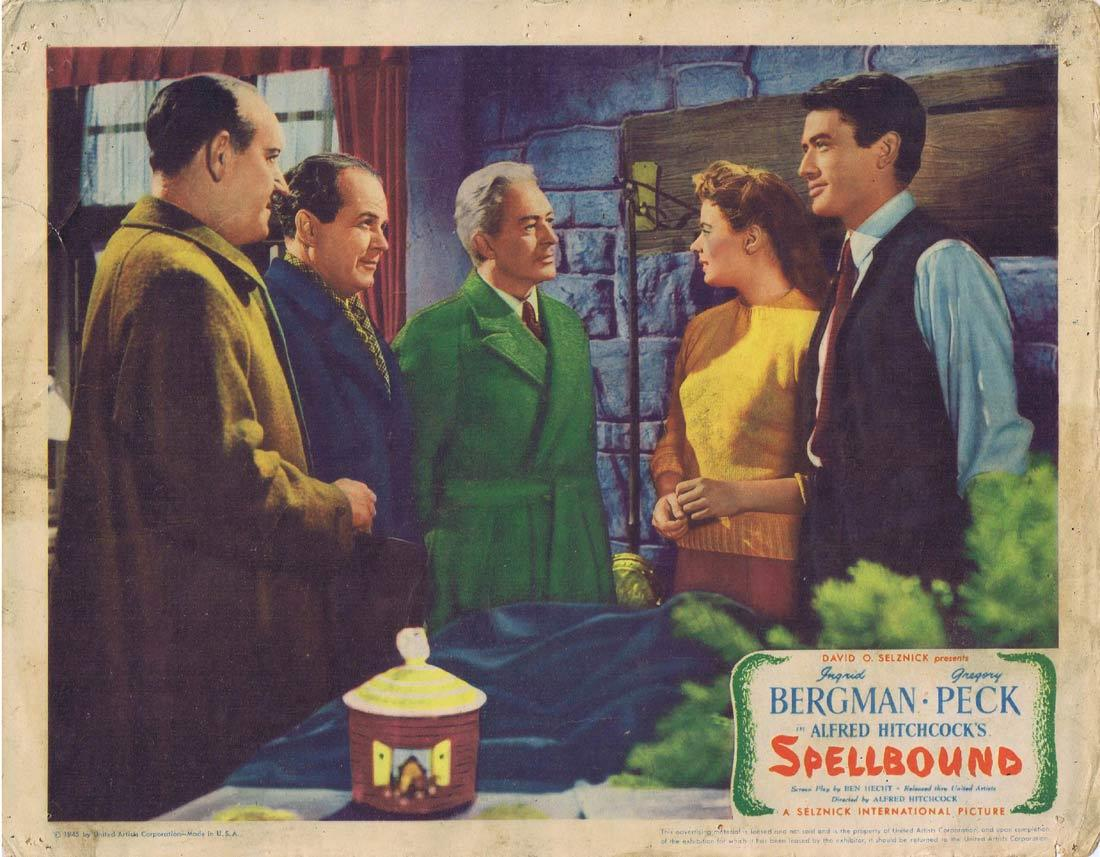 SPELLBOUND Lobby card 2 1945 Alfred Hitchcock Bergman Peck