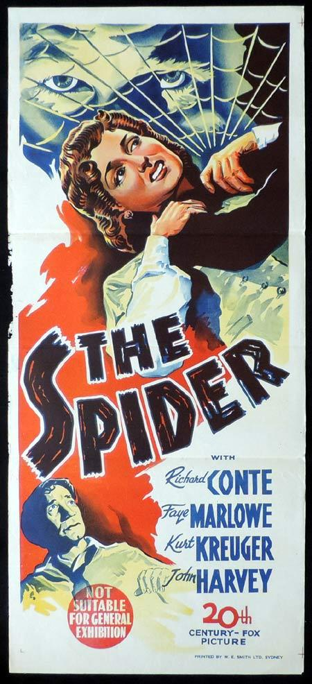 THE SPIDER Original Daybill Movie Poster Richard Conte Film Noir