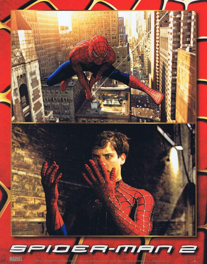 SPIDER-MAN 2 Lobby Card 3 Tobey Maguire Spiderman