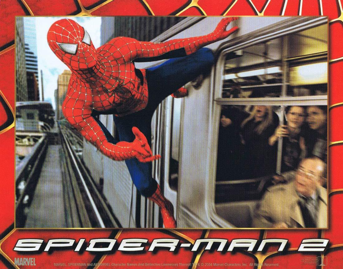 SPIDER-MAN 2 Lobby Card 4 Tobey Maguire Spiderman