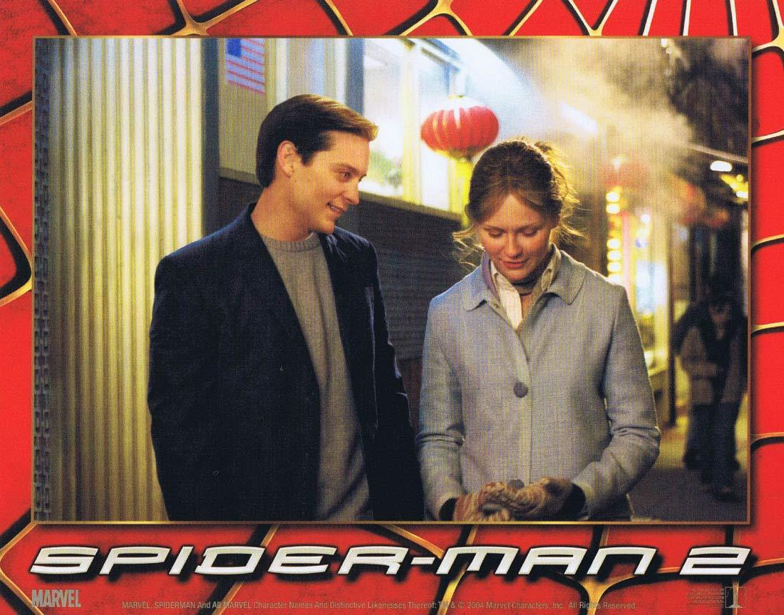 Spider Man 2 Lobby Card 5 Tobey Maguire Spiderman