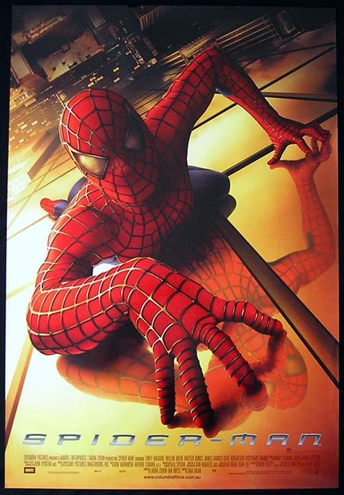 SPIDERMAN 2002 Tobey Maguire SPIDER-MAN RARE Australian one sheet poster