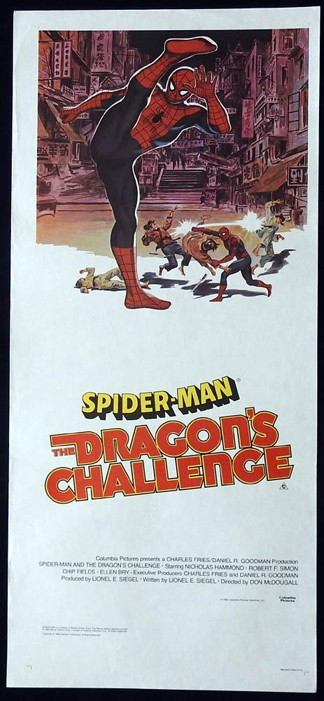 SPIDER-MAN THE DRAGON'S CHALLENGE Original Daybill Movie Poster Nicholas Hammond Spiderman