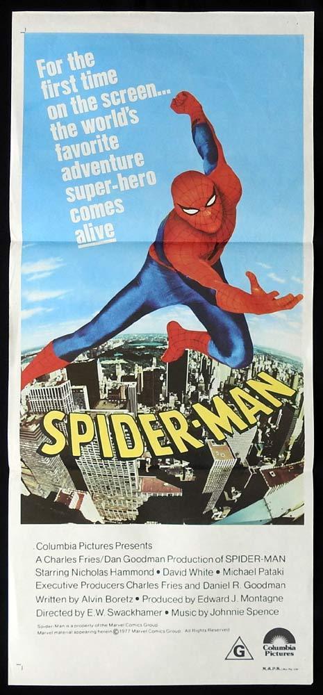 SPIDER-MAN Original Daybill Movie poster Nicholas Hammond SpiderMan