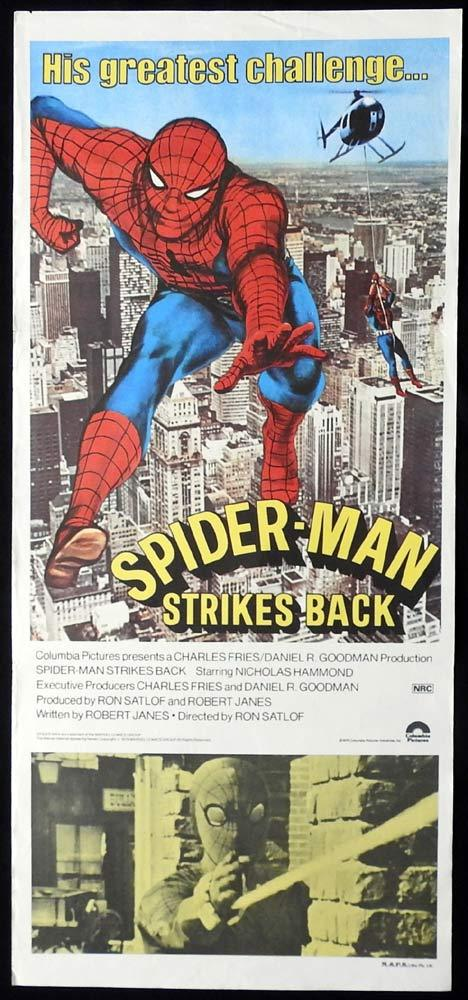 SPIDER-MAN STRIKES BACK Original Daybill Movie Poster Nicholas Hammond
