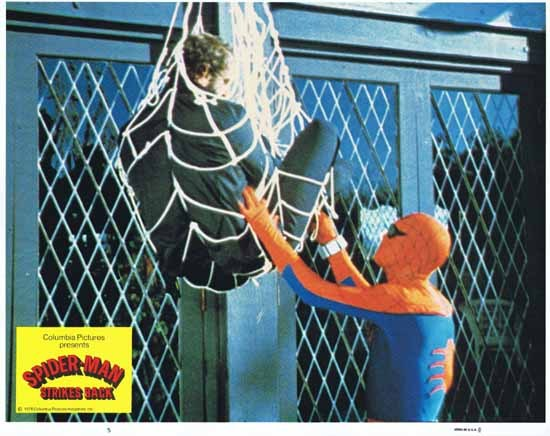 SPIDER MAN STRIKES BACK 1978 Nicholas Hammond Rare Original Lobby Card 5 aka SPIDER-MAN