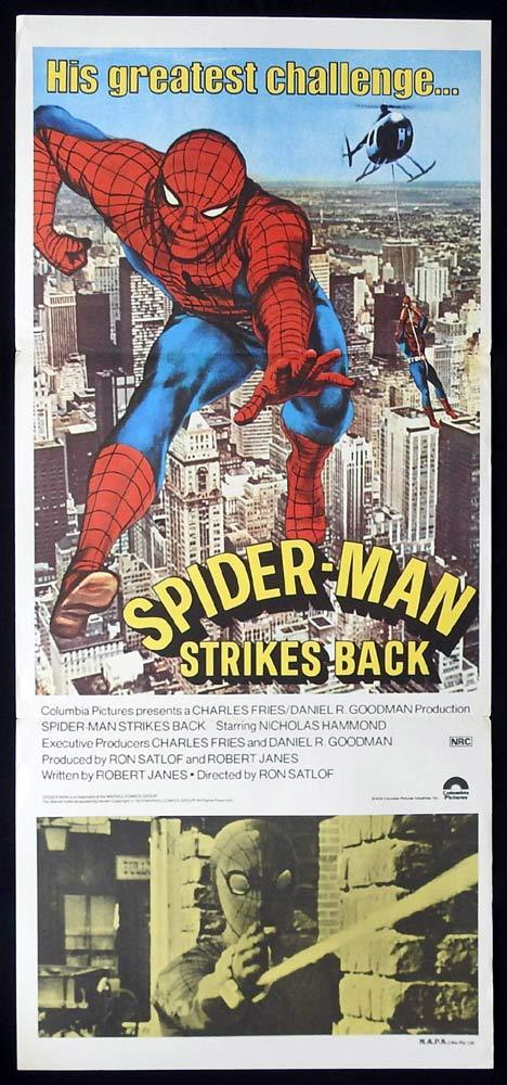SPIDERMAN STRIKES BACK Original Daybill Movie poster Nicholas Hammond Spider-Man