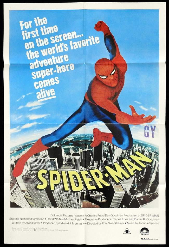 SPIDER-MAN Original One sheet Movie poster Nicholas Hammond Spider Man
