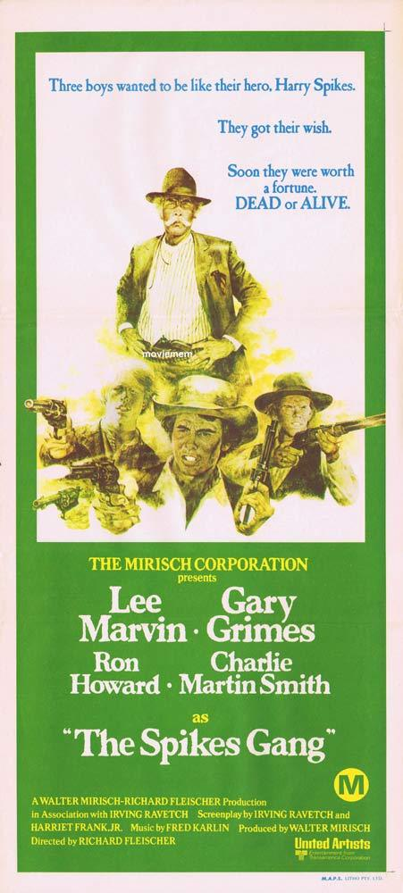 THE SPIKES GANG Original Daybill Movie poster Lee Marvin Gary Grimes