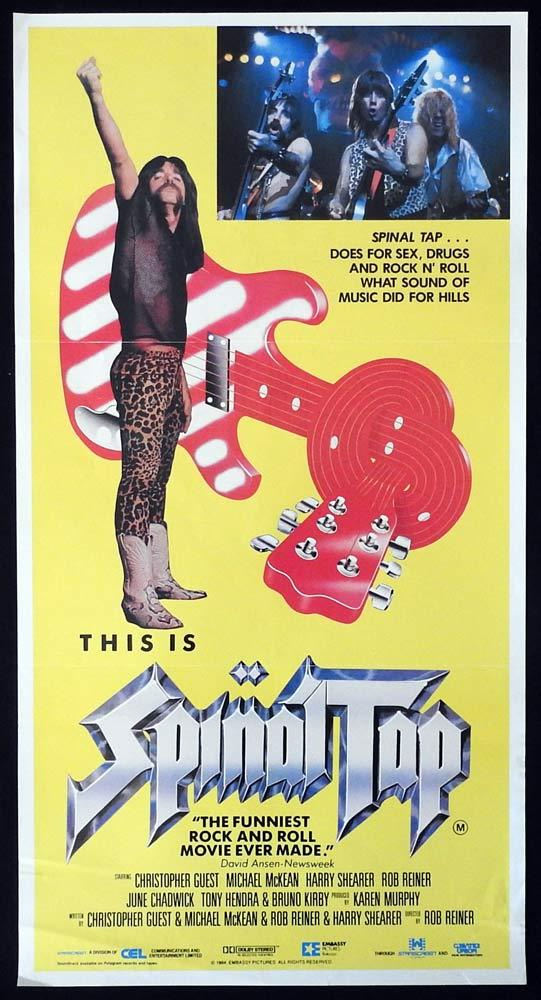 SPINAL TAP Original Daybill Movie poster Rob Reiner