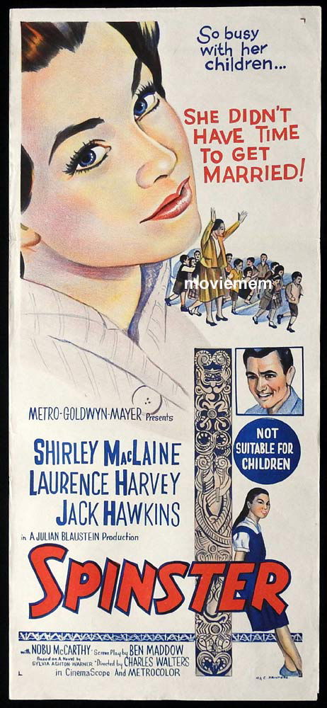 SPINSTER aka Two Loves Original Daybill Movie Poster Shirley MacLaine
