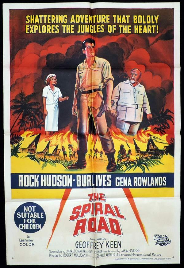 THE SPIRAL ROAD One Sheet Movie Poster Rock Hudson