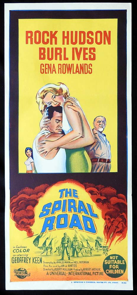 THE SPIRAL ROAD 1962 Rock Hudson Burl Ives Daybill Movie Poster