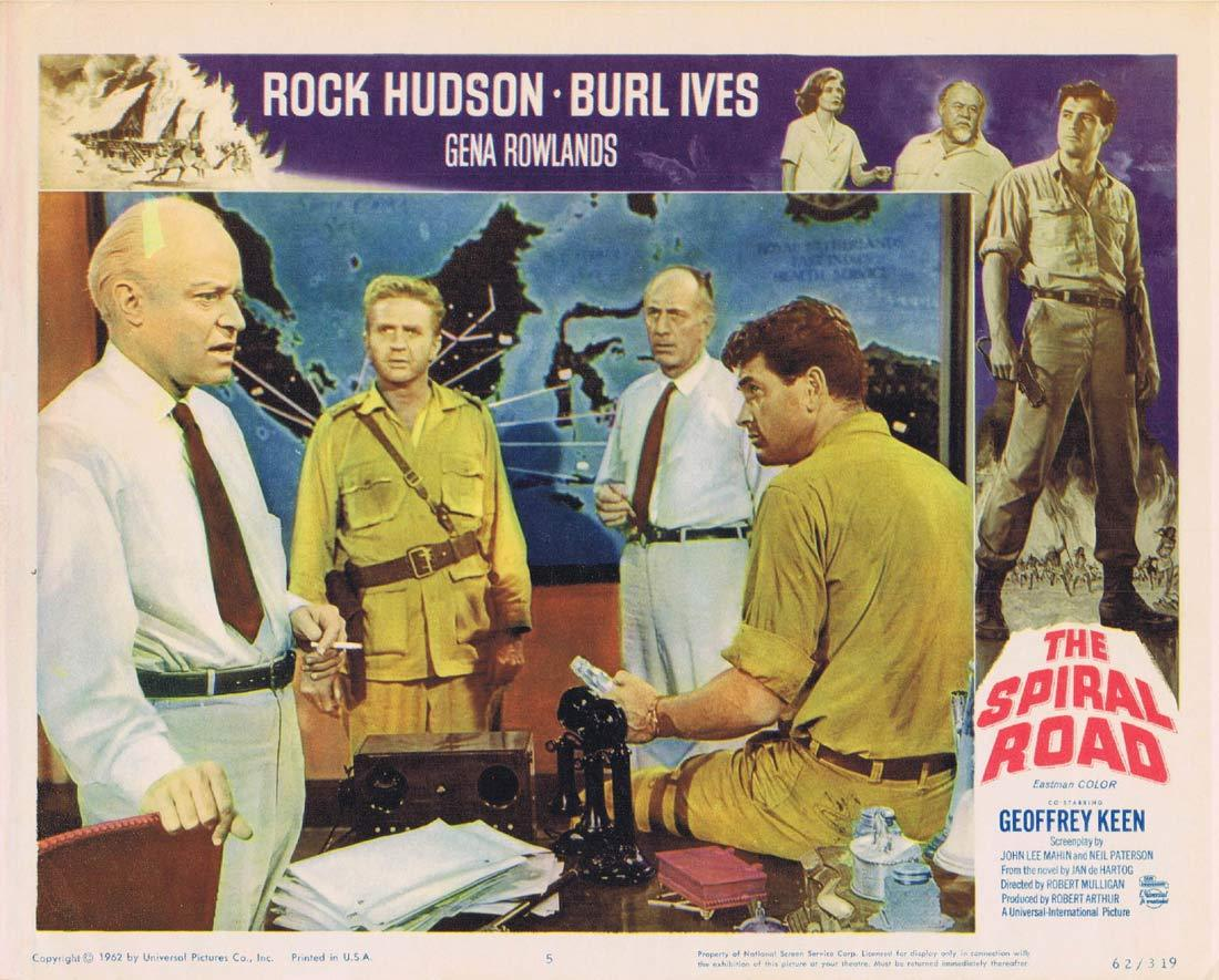 THE SPIRAL ROAD Lobby Card 5 Rock Hudson Burl Ives
